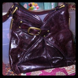 Kooba purse, like new! Deep burgundy, 100% leather